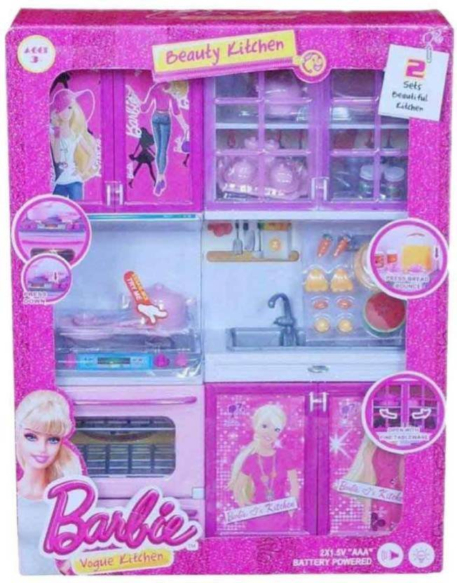 Jaynil Enterprise Adarable And Beautiful Barbie Kitchen Set For