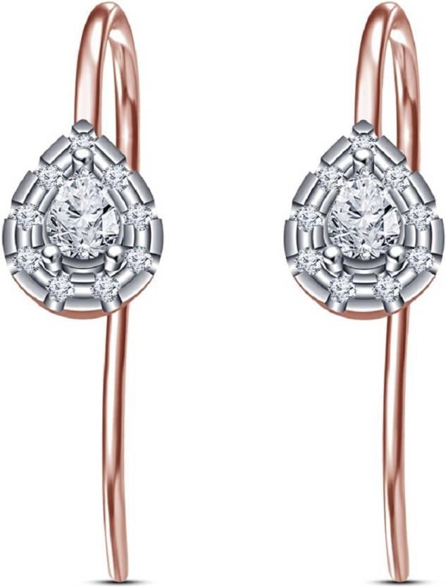 f289c59f4a Flipkart.com - Buy Vorra Fashion Pear Shape Sim-Diamond Brithday Special  Fancy 925 Sterling Silver Earrings For Women's & Girl's In Rose Gold Plated  Silver ...