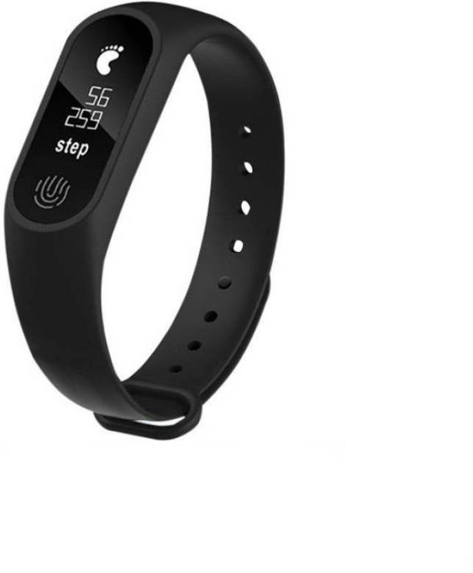 355d08d2e03 MOVO Bluetooth M2 Fitness Band With Heart Rate Sensor Fitness Tracker  (Black) (Black Strap