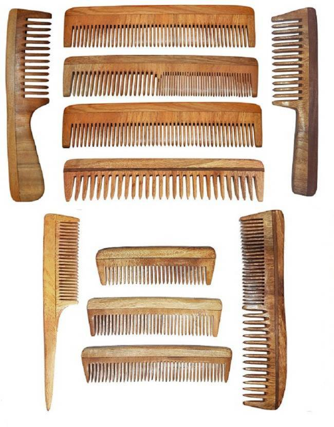 Fully Best Quality Handmade Hair Neem Wood Comb For Control Hair