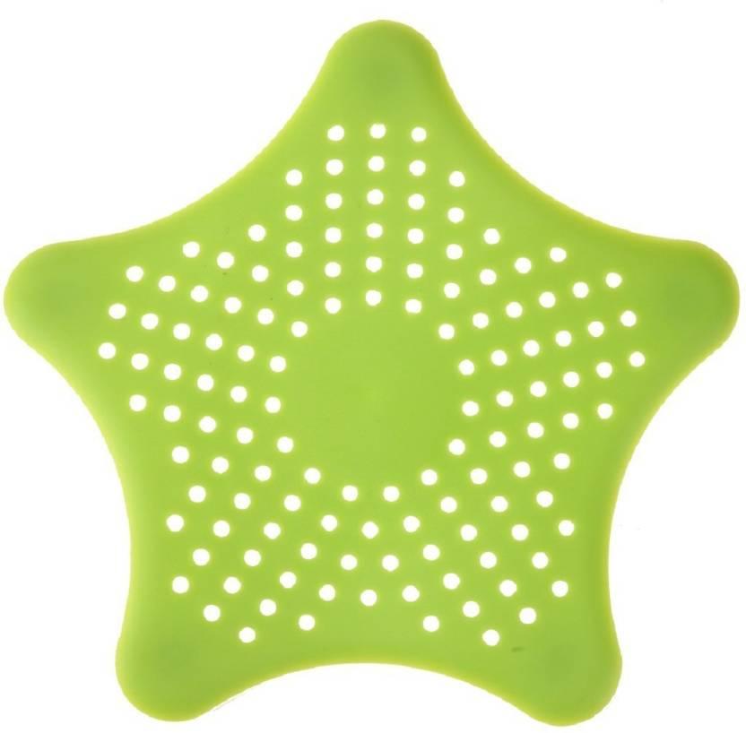 Aadmora 2pcs Starfish Design Silicone Rubber Kitchen Bathroom Sink