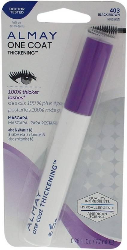 6a59f6ac2ac Almay Thickening Mascara, Black Brown [403], 0.26 Fl. Oz. 7.7 ml (Black)