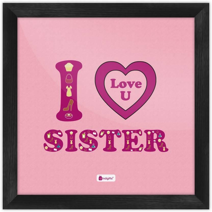 Gifts For Sister Raksha Bandhan Gift Happy Birthday Rakhi Poster With Frame S PSFSWBK01SQ06 SIS17014 Paper Print 6 Inch X