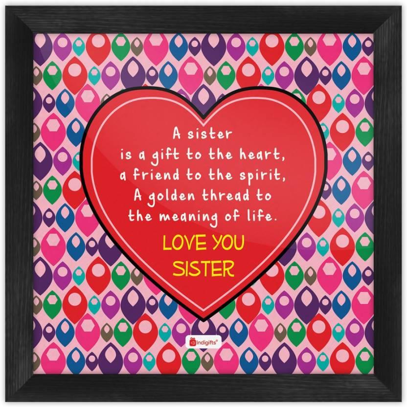 Gifts For Sister Raksha Bandhan Gift Happy Birthday Rakhi Poster With Frame S PSFSWBK01SQ08 SIS17006 Paper Print 8 Inch X