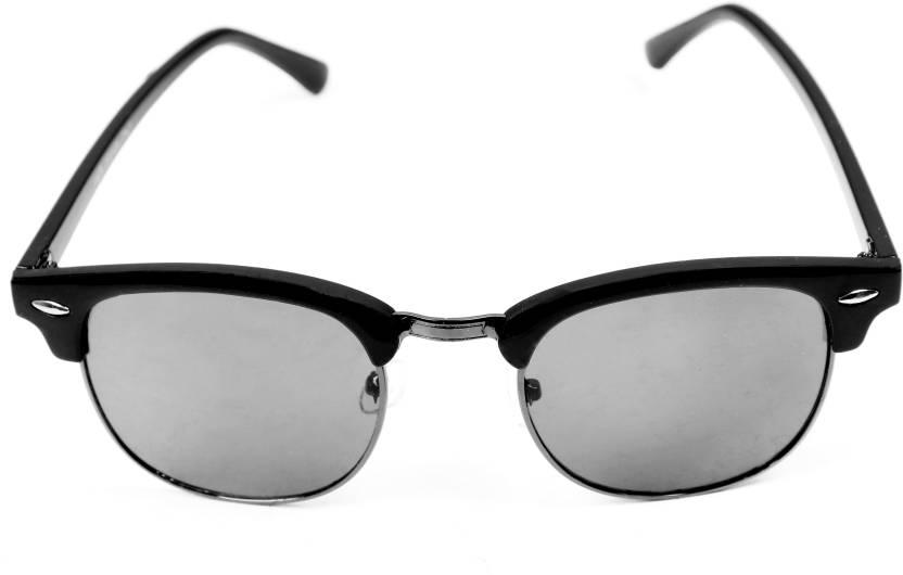 730b25820b2 Buy ar square fashion world Oval Sunglasses Black For Men   Women ...