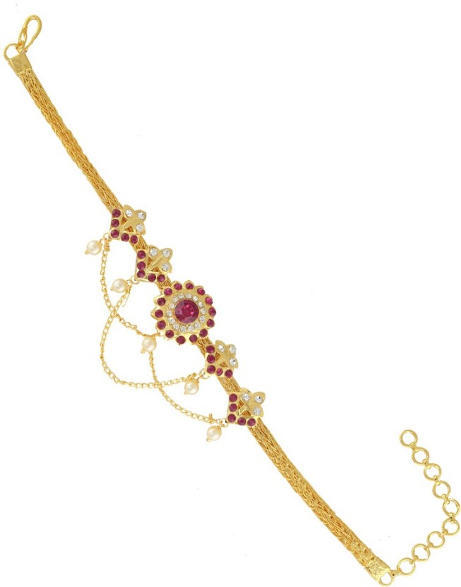 Anuradha Art Gold Finish Style With Hanging Pearl Beads Unique Designer Long Earrings For Women//Girls