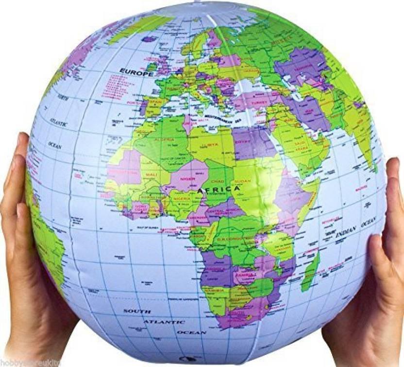 Henbrandt inflatable globe blow up globe world map atlas ball earth henbrandt inflatable globe blow up globe world map atlas ball earth map blow up ball 40cm gumiabroncs Choice Image