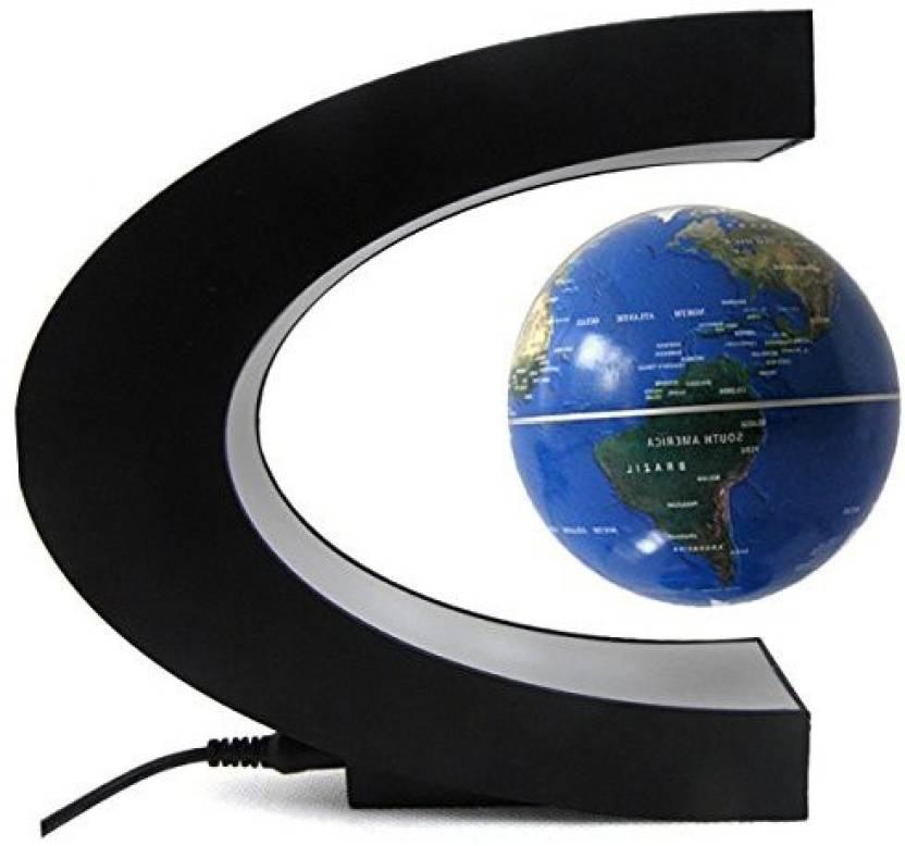 Cestore Suspended World Map Globe 360 Degree Magnetic Levitation