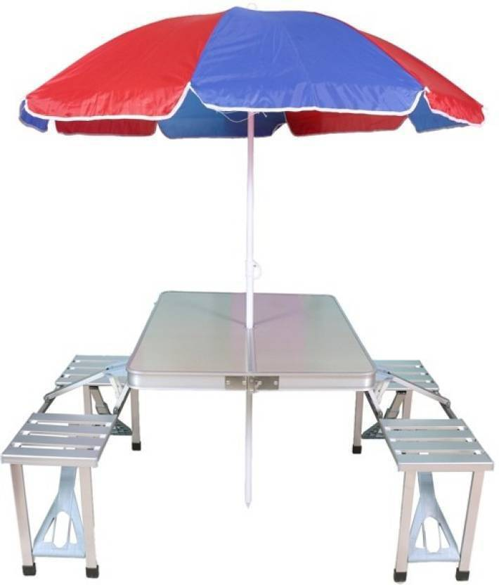 Fabulous Acm Aluminium Folding Portable Picnic Table With Chair Download Free Architecture Designs Scobabritishbridgeorg