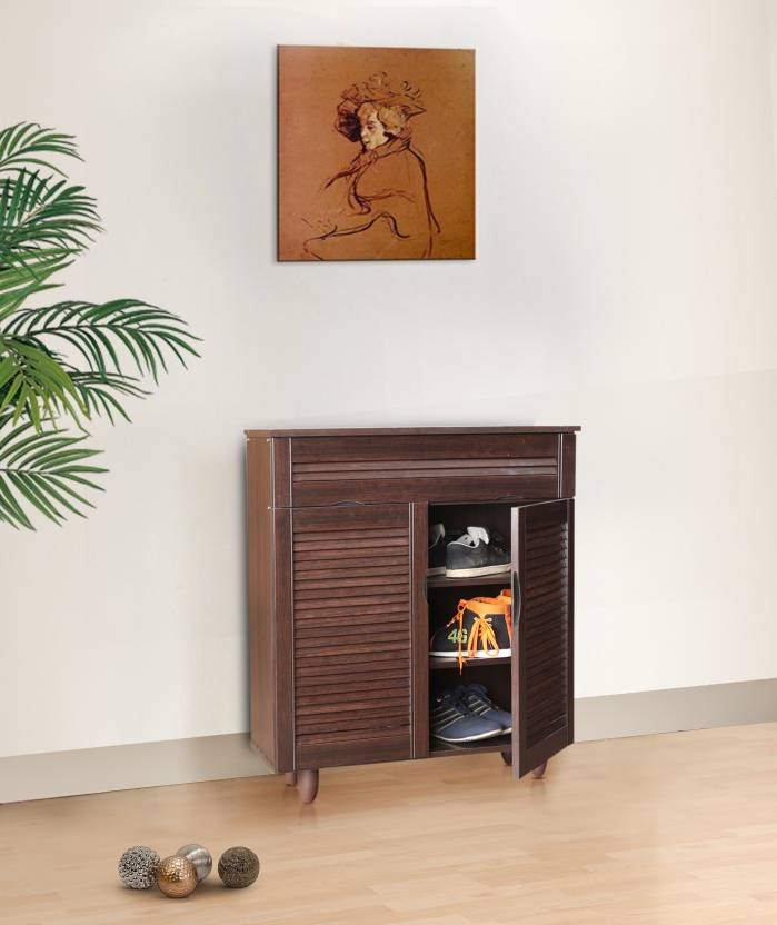 HomeTown Engineered Wood Shoe Rack 3 Shelves