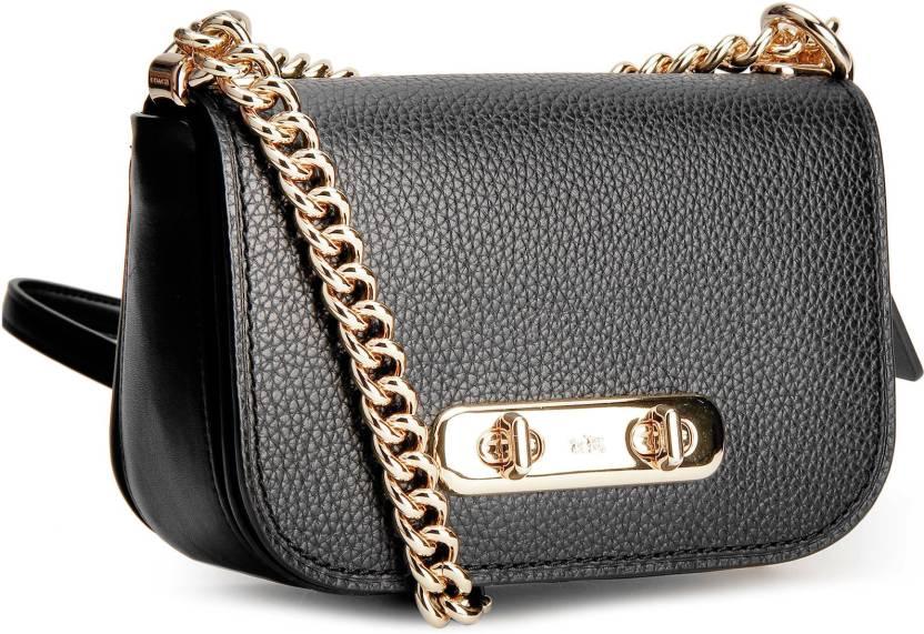 Coach Women Casual Black Genuine Leather Shoulder Bag LIBLK - Price ... c754fc6817