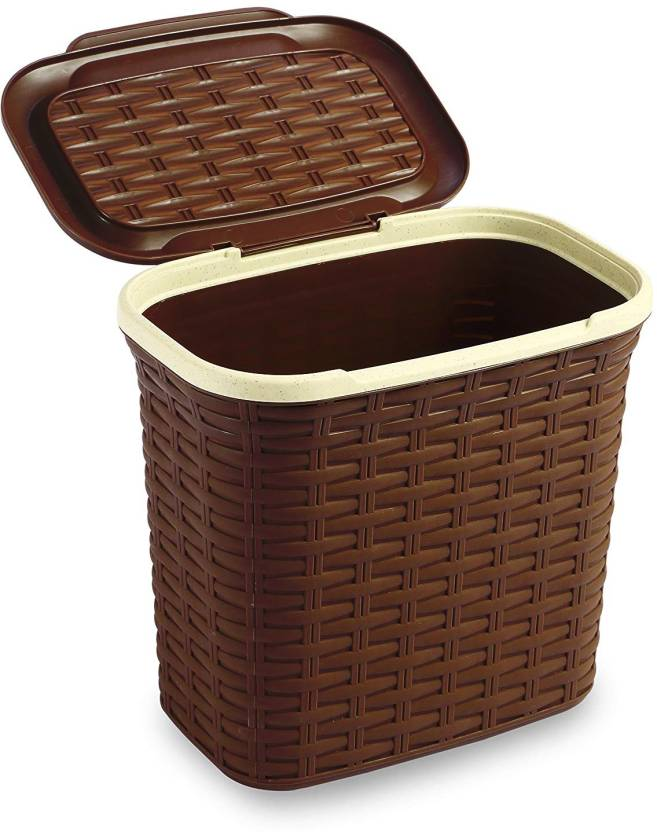All Time Presents Cresta Rectangular Plastic Basket Made In Turkey 7 0 Liters 27 Cm X 26 18 Brown Color Storage Pack Of 1