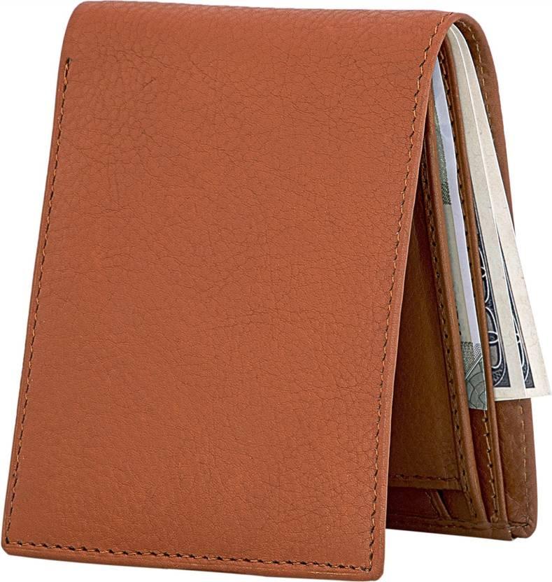 3e47e5a9680e POLLSTAR Men Orange Genuine Leather Wallet Brown - Price in India ...