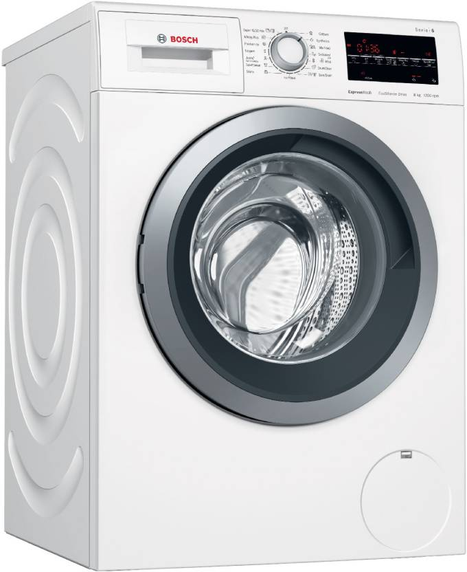 Bosch 8 Kg Fully Automatic Front Load Washing Machine White Wat24463in