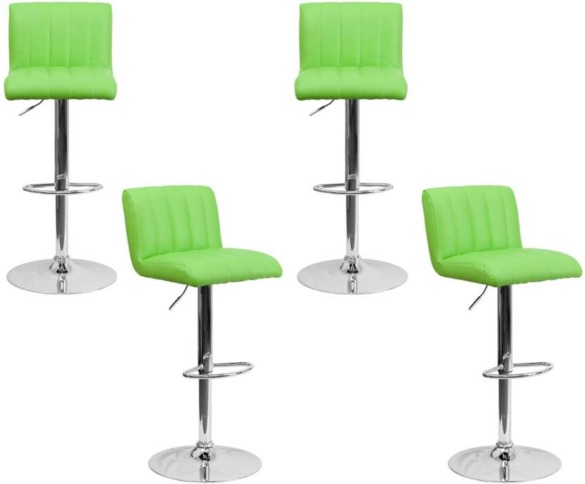 Lakdi Bar Chair Stool With Footrest