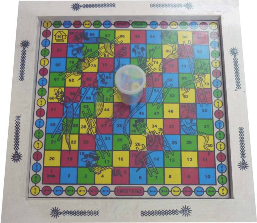 EMM EMM Pure Wood 2 In 1 Ludo and Snake & Ladder (Finest Quality