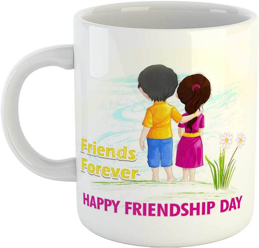 Gen7 Friends Forever Happy Friendship Day Printed Ceramic Coffee