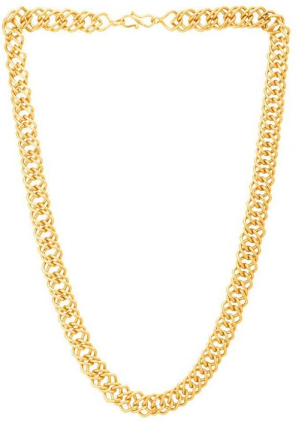 Onnet 1 Gram Gold Plated Patti Ring Chain For Men Alloy