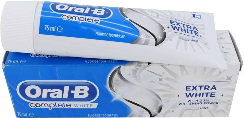Oral-B Complete White Extra White Toothpaste - 75ml Toothpaste - Buy