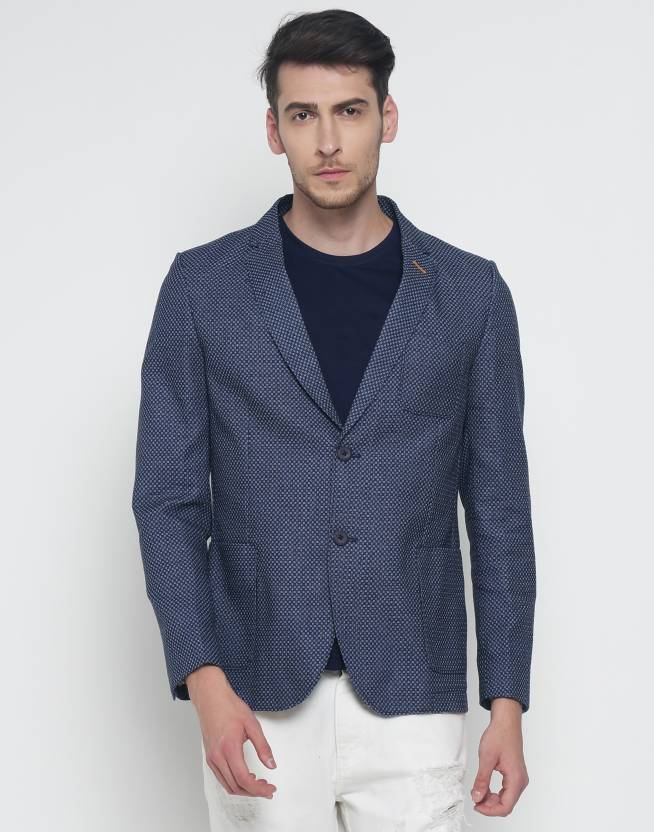 The Indian Garage Co Printed Single Breasted Casual Men S Blazer