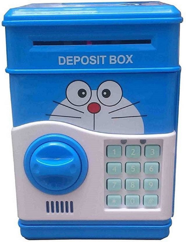 Amazia Electronic ATM For Kids Smart Lock Piggy Bank Coin Bank