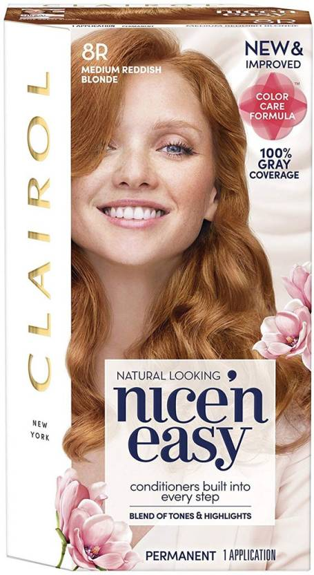 Clairol Nice N Easy 8r Medium Reddish Blonde Permanent Hair Color