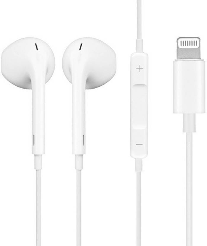 00a672dfeec HD Buy Premium Quality Earphone for Apple Iphone 7, Iphone 8, Iphone 7  Plus, Iphone 8 plus & Iphone X ( Bluetooth ) Wired, Bluetooth Headset with  Mic (White ...