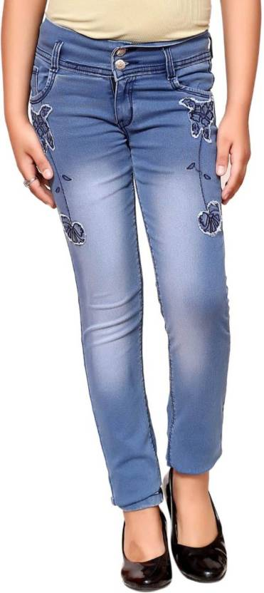 16fa6b64d9724 Oriex Slim Girls Blue Jeans - Buy Oriex Slim Girls Blue Jeans Online ...