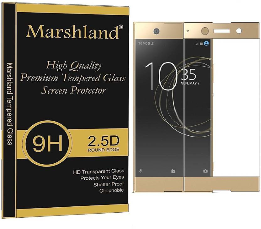Marshland Edge To Edge Tempered Glass for Sony Xperia XA1 (Pack of 1)