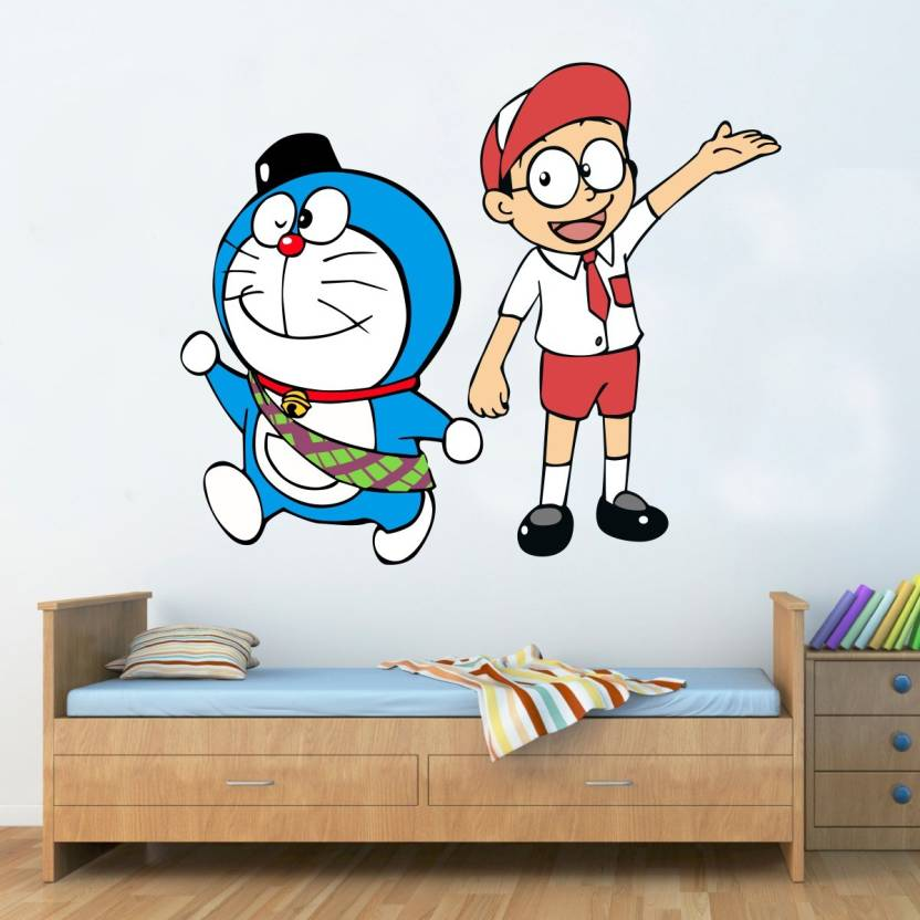 indra graphics large doraemon with nobita wall sticker sticker price