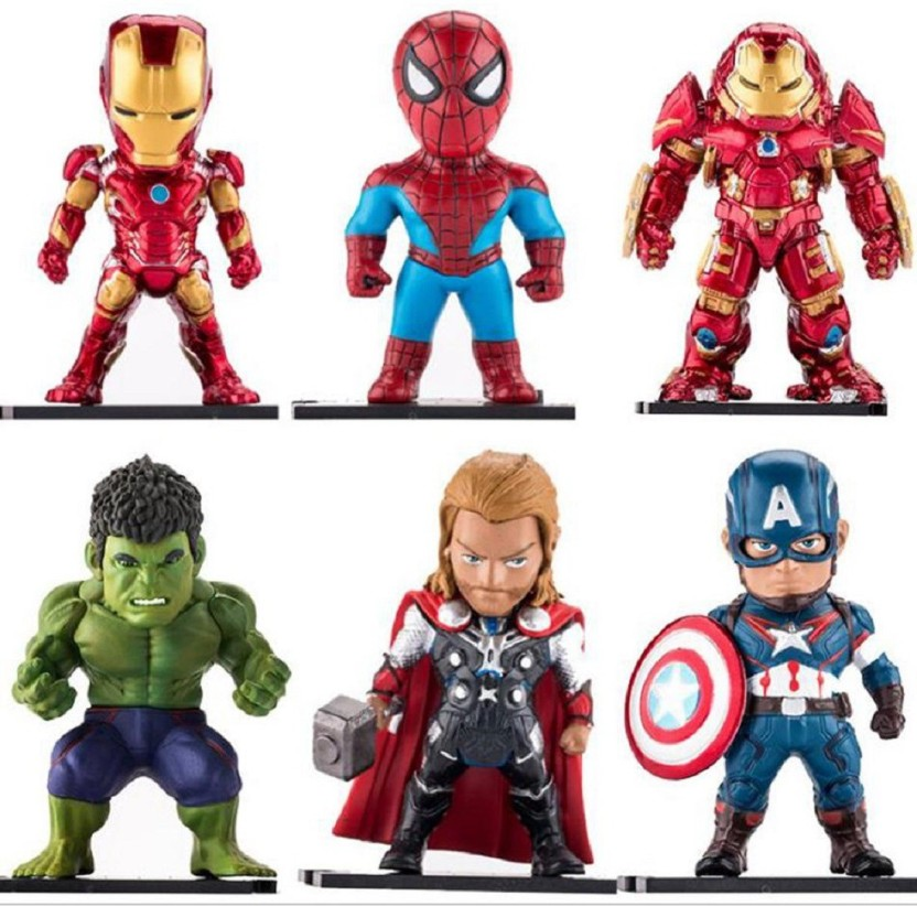 "Marvel Avengers 6/"" Action Figure Captain America Hulk Spiderman Iron Man"