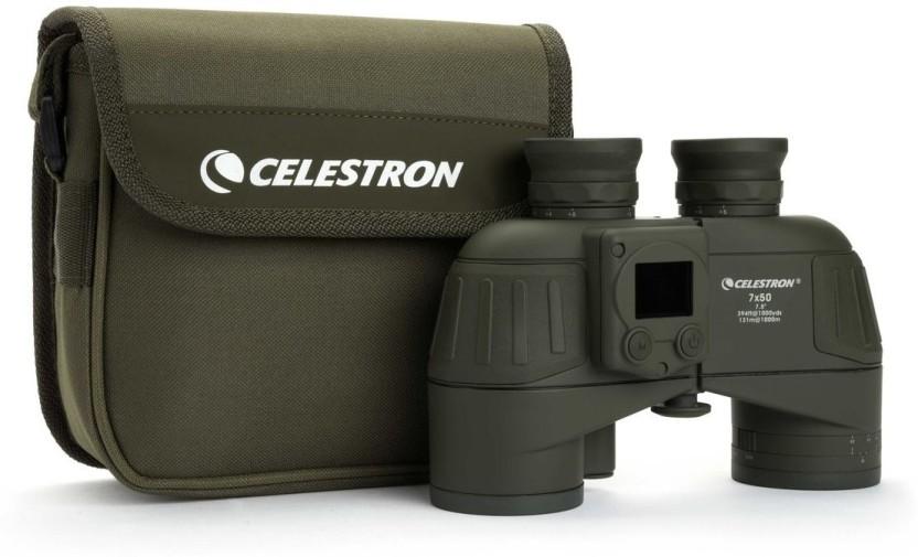 DigItal Compass and Reticle Celestron Cavalry 7x50 Binocular with GPS