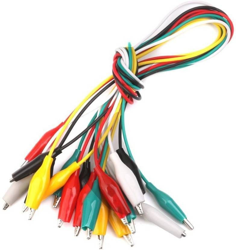 techwiz double ended crocodile clips cable alligator clips wire rh flipkart com