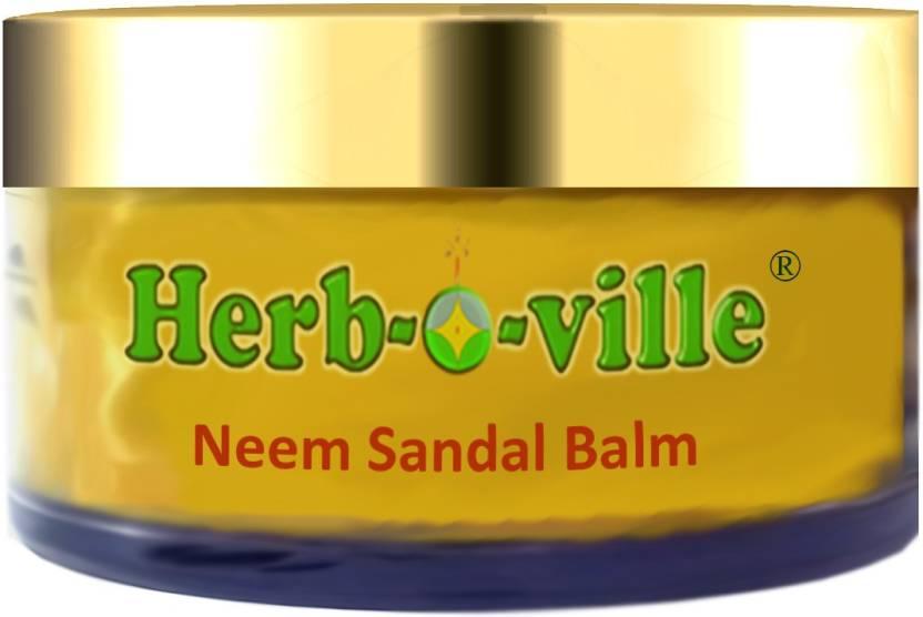 Herb-O-Ville Neem Sandal Balm Grape Fruit, Natural Radiance Skin