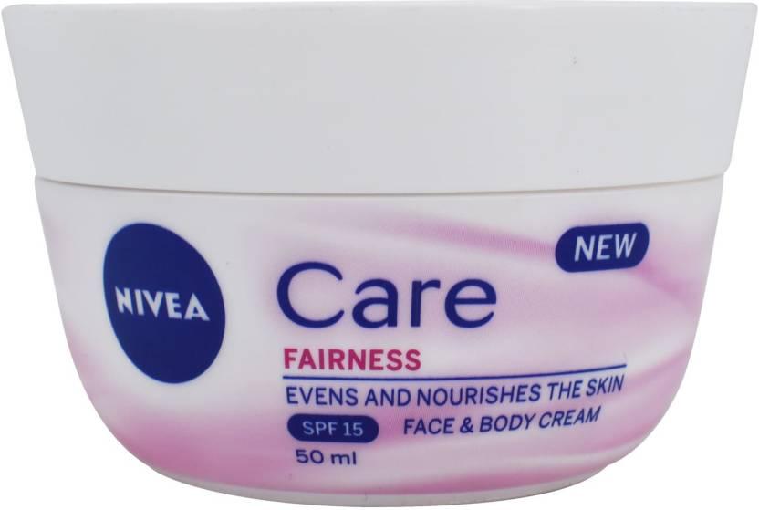 מדהים Nivea Care Fairness Face & Body Care Cream (SPF15) - 50ml - Price YU-11