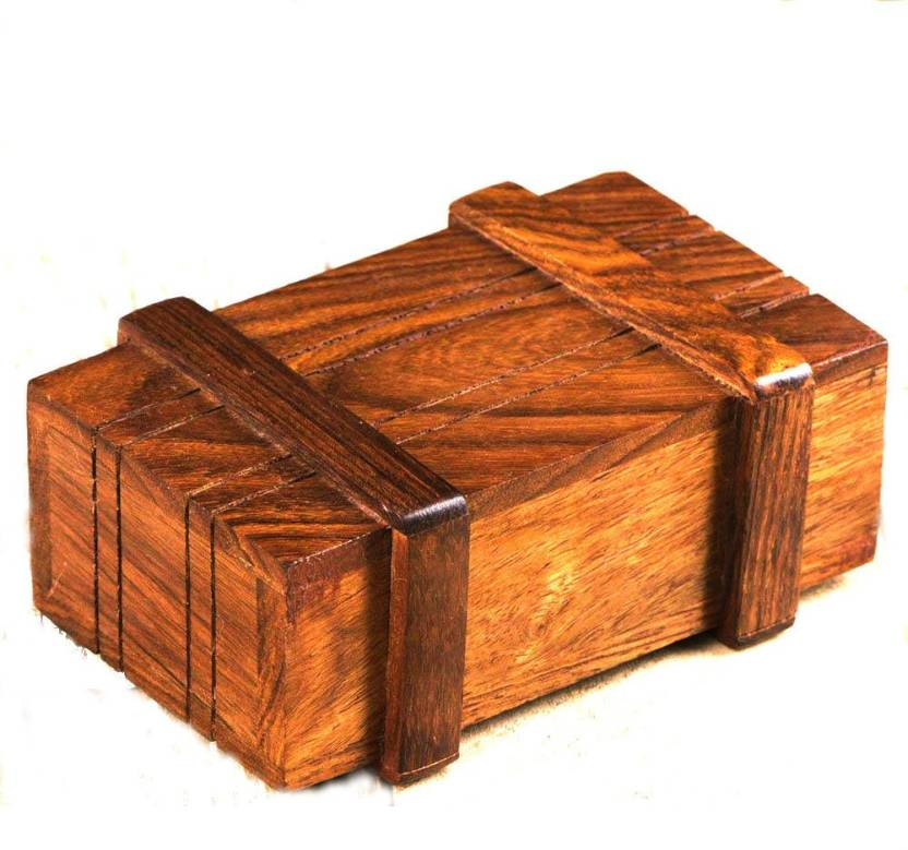 Fashionframe Puzzle Magic Box Wooden Magic Money Holder Gift Box