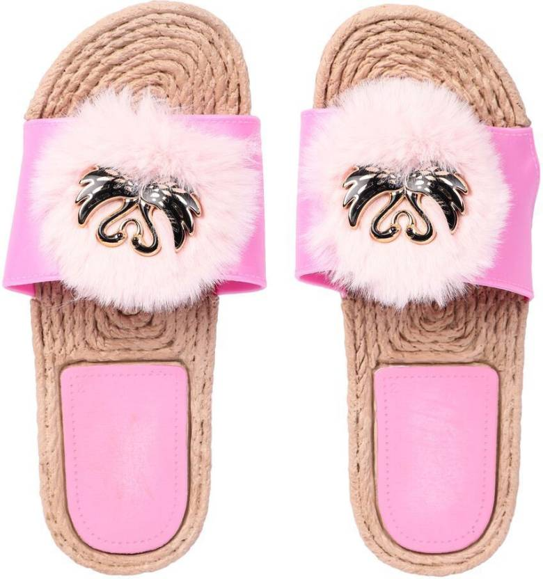 brauch light pink fur swan slippers slides buy brauch light pink