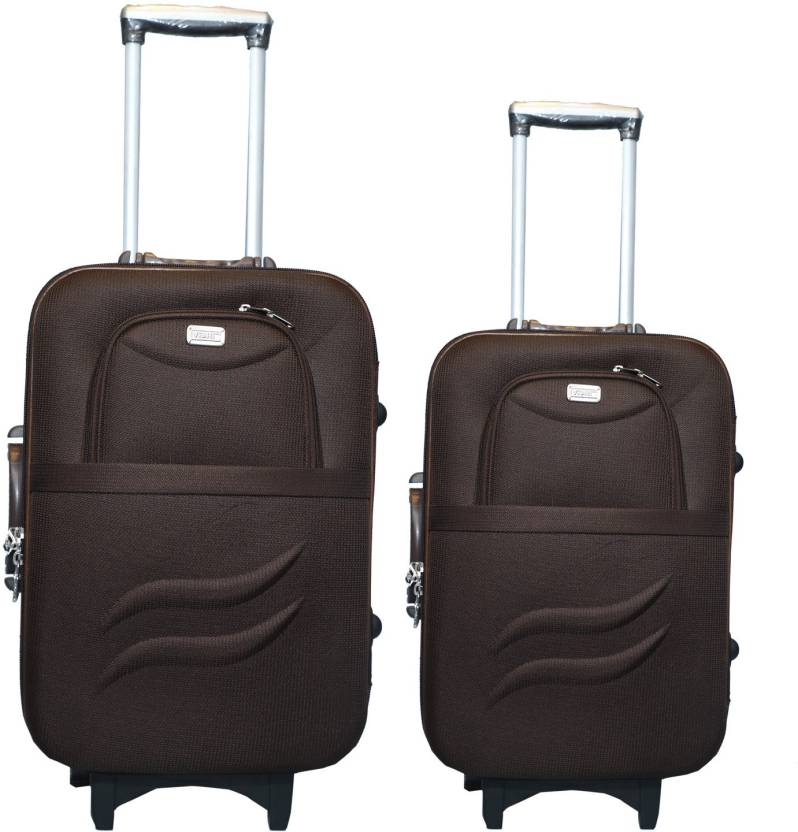 26050b745 VIDHI Luggage Combo Set (Pack of 2) Coffee Trolley Bag 20