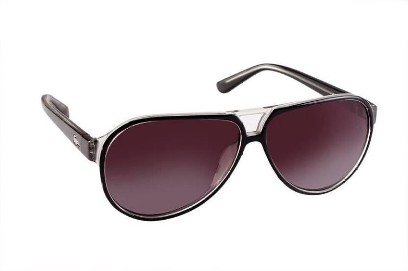 29f269f7154bf Buy Lacoste Aviator Sunglasses Grey For Men   Women Online   Best ...