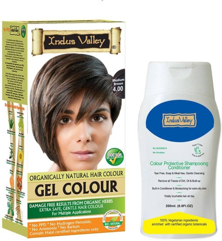 Indus Valley Gel Organically Natural Medium Brown 400 Hair Color