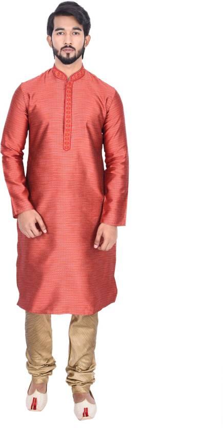 8fdaba5ef4 Manyavar Men's Kurta and Churidar Set - Buy Red Manyavar Men's Kurta and Churidar  Set Online at Best Prices in India | Flipkart.com