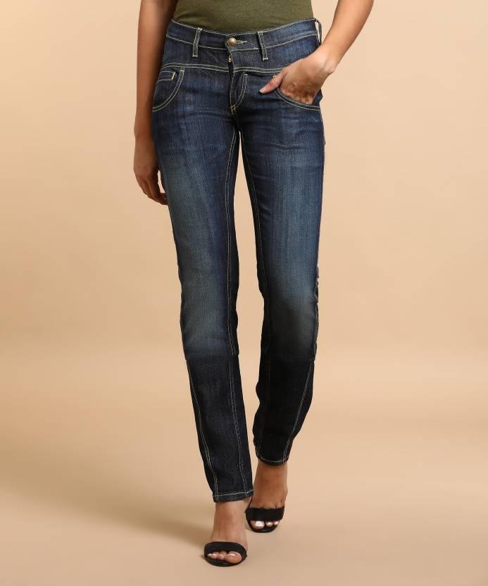 Flying Machine Skinny Women's Blue Jeans