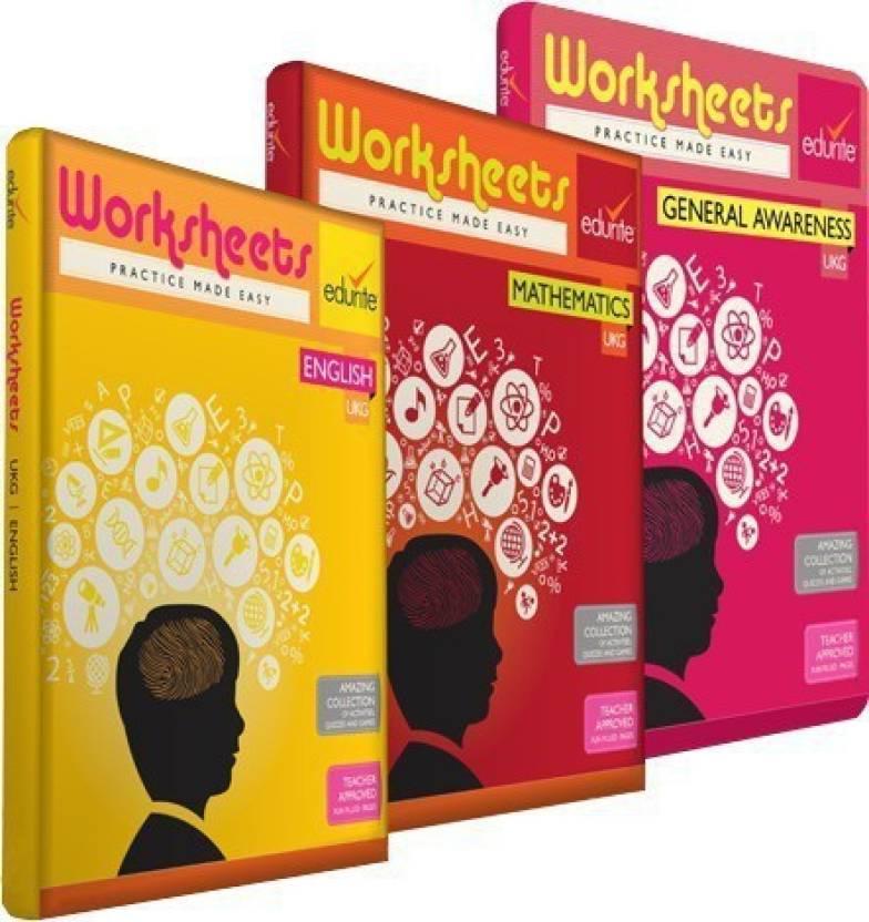 Edurite Combo Worksheets For UKG (Mathematics, English And General ...
