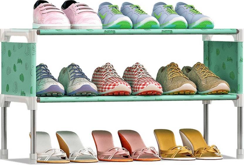 FurnCentral Metal Shoe Stand 2 Shelves