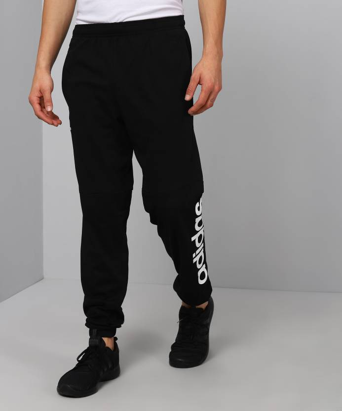 6423802b ADIDAS Solid Men Black Track Pants