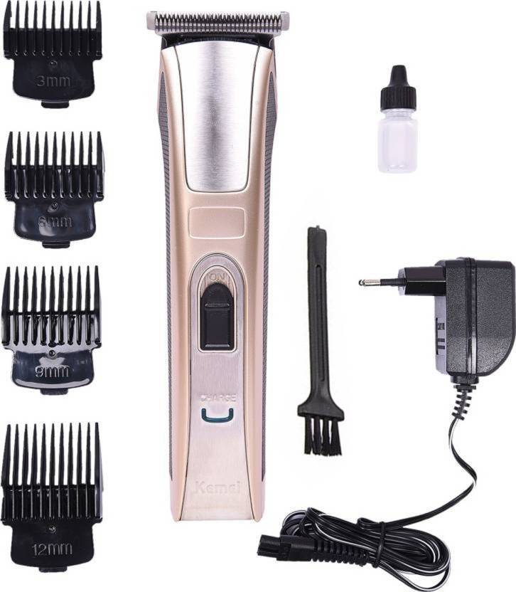 337107741ef2 Kemei KM-5017 Hair Trimmer Rechargeable Electric Hair Clipper ...