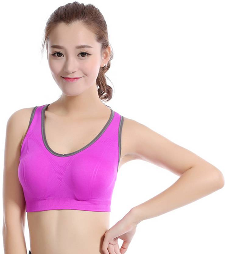 64132ac04a Honey Bae Women s Sports Lightly Padded Bra - Buy Honey Bae Women s ...