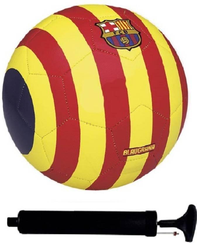 108257e1b AkshMall Kit of FCB Blaugrana Yellow Red Football (Size-5) with Air Pump   Needle  Football Kit - Buy AkshMall Kit of FCB Blaugrana Yellow Red Football ...