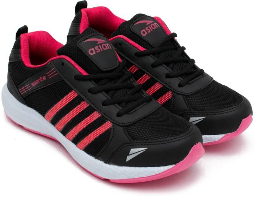 50b639c28660 Asian Fashion-13 Black Pink Walking Shoes