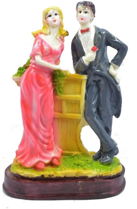 Crafts For You Loving Couple Statue Figurine Showpiece Anniversary Birthday Gifts Girlfriend Boyfriend Husband Decorative